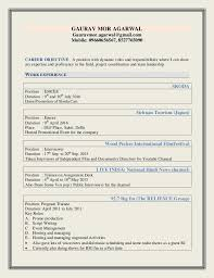 Resume For Anchor Job Best of Anchor Gaurav Resume