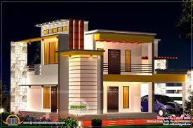 flat roof house plans design on 1600x1067 flat roof home with floor plan kerala