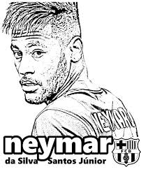 Neymar Fc Barcelona Football Player To Color Bookmarks