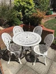white cast iron patio set off 70