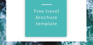 Pamphlet Template Free Free Travel Brochure Template Free Indesign Template