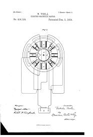 Motor medium size patent us416195 tesla patents drawing three phase motor control diagram