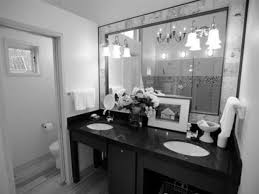 Black White And Red Bathroom Decorating Ideas Interesting Chrome ...