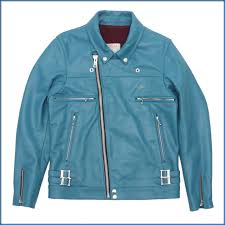 under cover undercover double riders jacket turquoise 430000887524