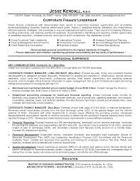 Corporate Finance Resume Resume Work Template