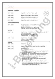 Lebenslauf Muster Ausbildung Gegenchronologischer Lebenslauf