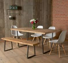 modern dining table with reclaimed wood top and square steel base 72 x 36 x 30 with standard top