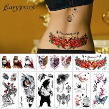 Glaryyears 25 Designs 1 Sheet Animal Body Tattoo Sticker Wst Tl Waterproof Decal Fox Tiger Image Diy Body Temporary Tattoo Anime