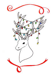 Simple Christmas Card Drawings Theveliger