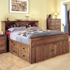 Queen Bed With Under Storage Platform Captains Cool Design Drawers Underneath Plans White