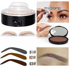hot 2017 fast makeup easy to wear pigment eyebrow st powder kits grey brown waterproof make