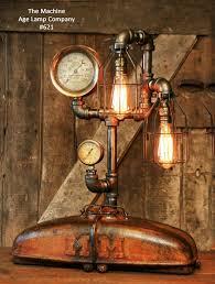 steampunk lighting. Steampunk Lamp Industrial MM Tractor Light Farm Minneapolis Moline, #621 Steampunk Lighting U