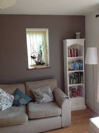Living Room Paint Feature Wall In Our Living Room Paint Colour Dulux Classics Cocoa