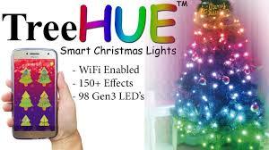 App Controlled Christmas Tree Lights Treehue Smart Christmas Lights With 150 Effects App Controlled Christmas Lights