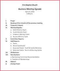 Business Meeting Template Download Free Minutes Format Church Sample Custom Business Meeting Agenda Format