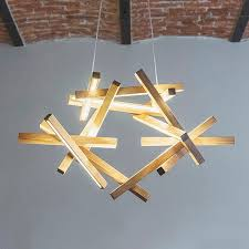 wooden chandelier led pendant light wooden ceiling lights modern loft chandelier unique design lighting modern wood lamp interstellar next level studio