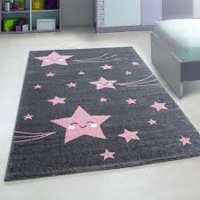 nursery mats kids star rug pink and grey play carpet small large round uk