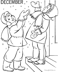Small Picture December Coloring Book Pages