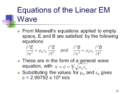 equations of the linear em wave