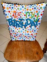 classroom chair back. \u0027it\u0027s my birthday\u0027 chair cover - cute idea to go with the \ classroom back s