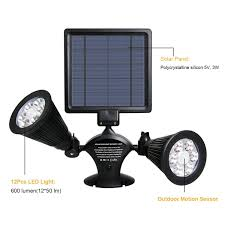 solar lights outdoor 54 led super bright wide angle solar powered light wireless security