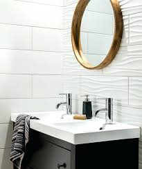 the ripples in these white bathroom tiles used on one wall add a wave like look bathroom vintage white wave ceramic tile tiles