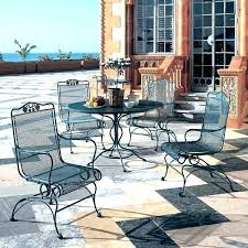 wrought iron patio furniture sets painting wrought iron patio furniture colorful wrought