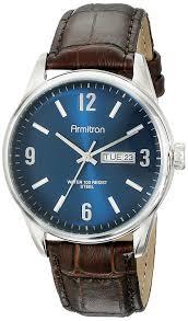 com armitron men s 20 5048nvsvbn day date function brown croco grain leather strap watch watches