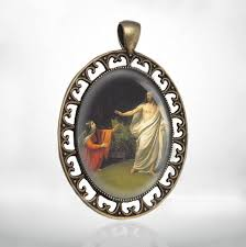 details about st mary magdalene and catholic medal pendant
