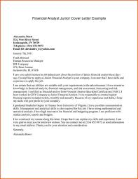 finance analyst cover letter template financial cover letter examples