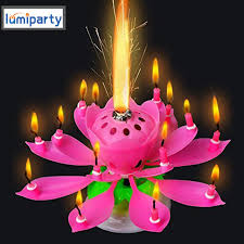 lumiparty 3pcs lot lotus candle al flower candles led tea light lotus birthday candle happy
