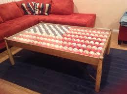 Coffee Table Kits Brandans Baseball American Flag Coffee Table Made With Baseball