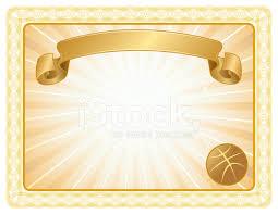 Basketball Award Certificate Background Stock Vector Freeimages Com