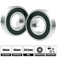 Double Row Ball Bearing Chart 2x 5208 2rs Premium Sealed Double Row Ball Bearing 40x80x30 2mm New Rubber