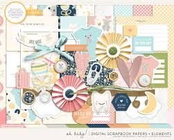 Oh Baby Scrapbook Kit For Procreate And Photoshop By Holly