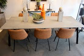 moss furniture tokyo featuring rugged concrete caesarstone top and black base on now