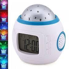 sky star night light projector lamp alarm clock
