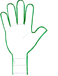 Hand Print Outline Free Download Best Hand Print Outline