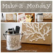 make it monday coral stenciled crafts stencil stories stencil