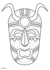 Coloriages Masques Africains Imprimerl L