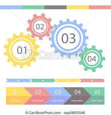 Chart Progress Progress Statistic Concept Infographic Template For Presentation Timeline Statistical Chart Business Flow Process Steps