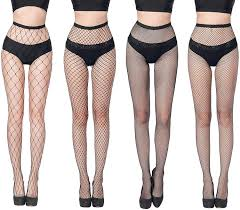 FLORA GUARD High Waist Tights Fishnet Stockings -4 Pairs Pantyhoses  Seamless Mesh Tights for Women, Tights with 4 Types(Black) at Amazon Women's  Clothing store