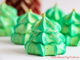 Two Toned Christmas Tree Meringue- Rosie's Dessert Spot
