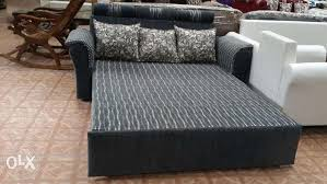 comfortable sofa bed in storage