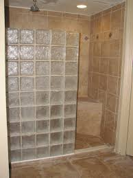 marvellous bathroom design ideas come with glass block wall shower room and brown ceramic wall or