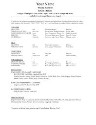 Film Resume Format 20 Film Resume Format Best Photos Of Crew