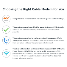 Motorola Mt7711 24x8 Cable Modem Router With Two Phone Ports Docsis 3 0 Modem And Ac1900 Dual Band Wifi Gigabit Router For Comcast Xfinity Internet
