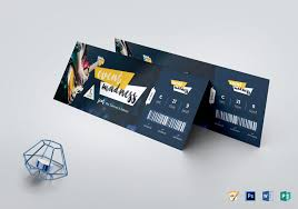 Ticket Design Creative Event Ticket Template