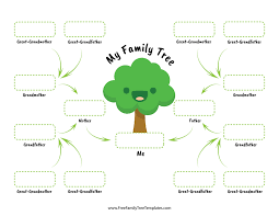 Family Tree Templates Kids Family Tree For Children Free Family Tree Templates