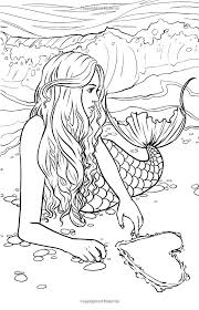 Coloring Pages Mermaids Realistic Mermaid Coloring Page Coloring